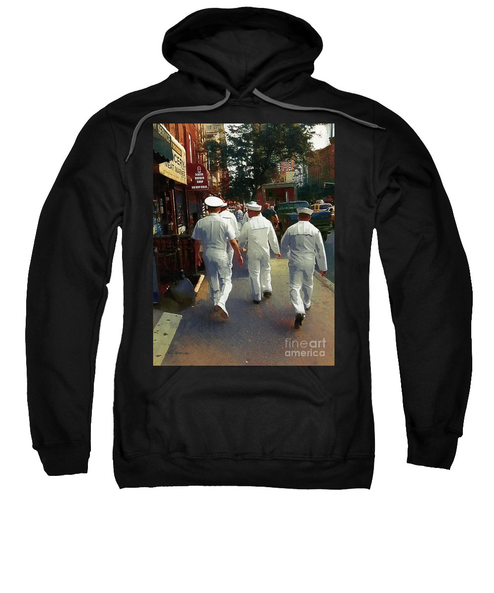 Sailors Sweatshirt featuring the painting Following The Fleet by RC DeWinter