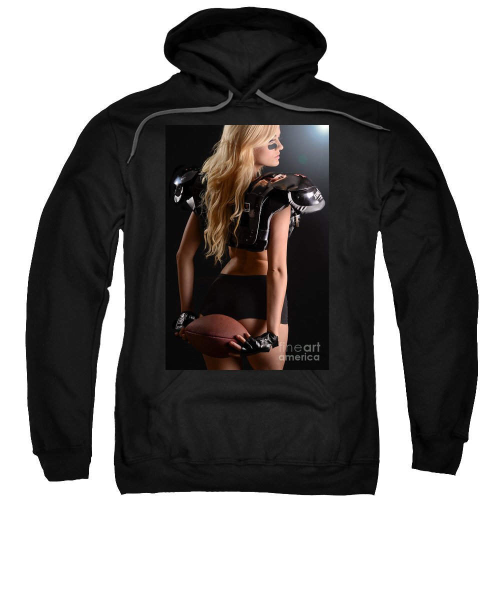 Fit Sweatshirt featuring the photograph Football Girl by Jt PhotoDesign