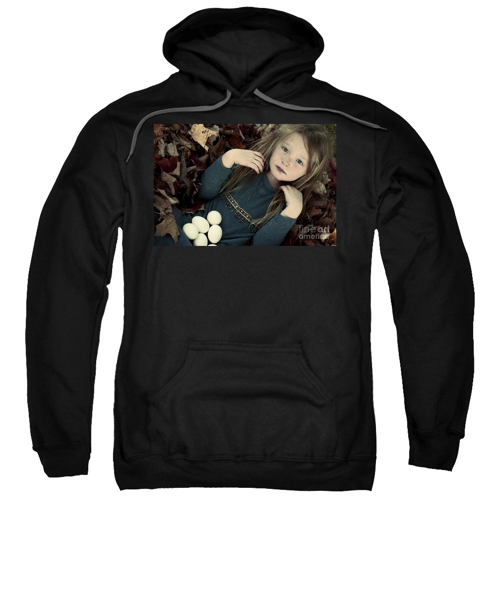 Portrait Sweatshirt featuring the photograph For The Love Of Birds by Aimelle