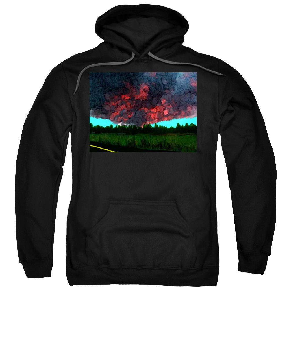Fire Sweatshirt featuring the painting Forest Fire by Bruce Nutting
