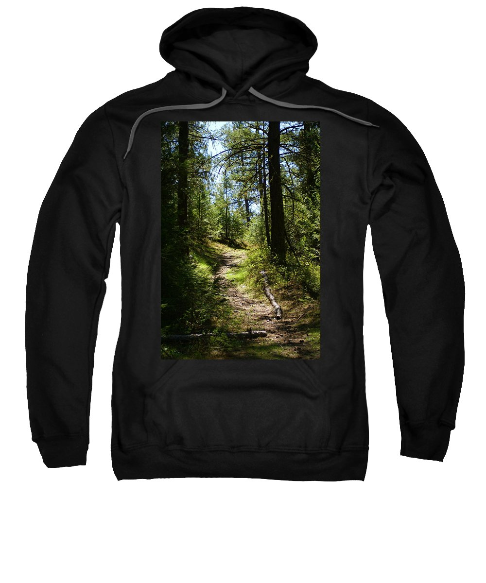 Forest Sweatshirt featuring the photograph Forest Path In Spokane 2014 by Ben Upham III