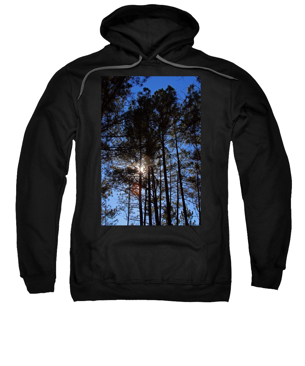 South Carolina Sweatshirt featuring the photograph Forest Sunset by Carolyn Stagger Cokley