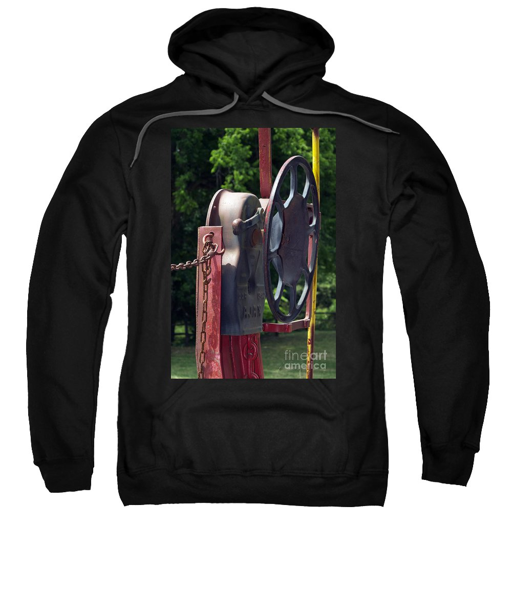 Railroad Tracks.railroad Photos Sweatshirt featuring the photograph Found On A Caboose by Skip Willits