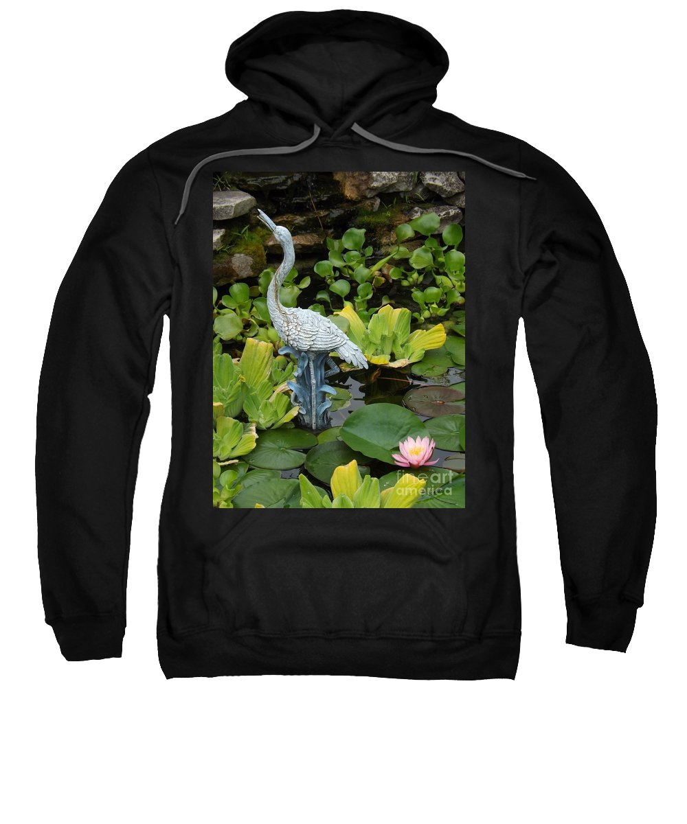 Flower Sweatshirt featuring the photograph Fountain Among Lilies by Sara Raber