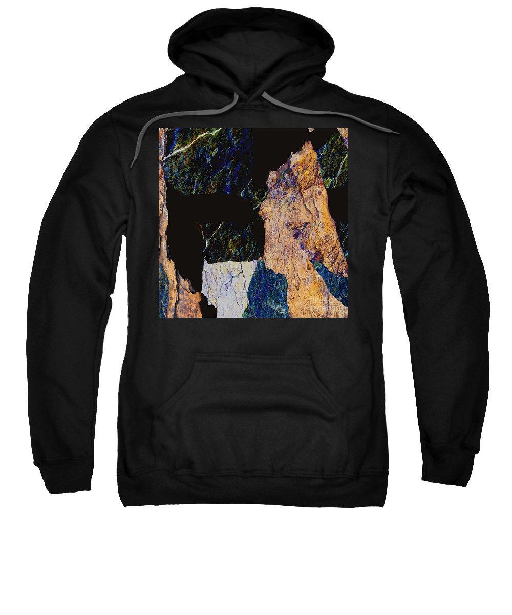 Fracture Sweatshirt featuring the photograph Fracture Section Xiv by Paul Davenport