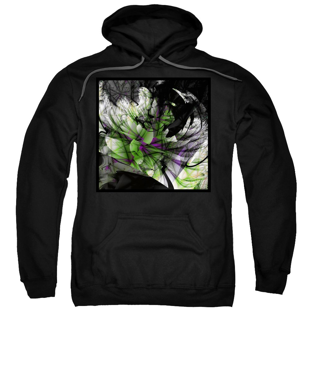 Fracture Bloom Sweatshirt featuring the digital art Fractured Bloom by Elizabeth McTaggart