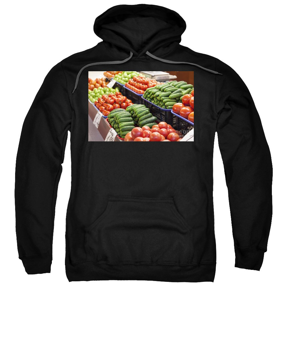 Stack Sweatshirt featuring the photograph Frash Fruit And Vegetables by Sophie McAulay