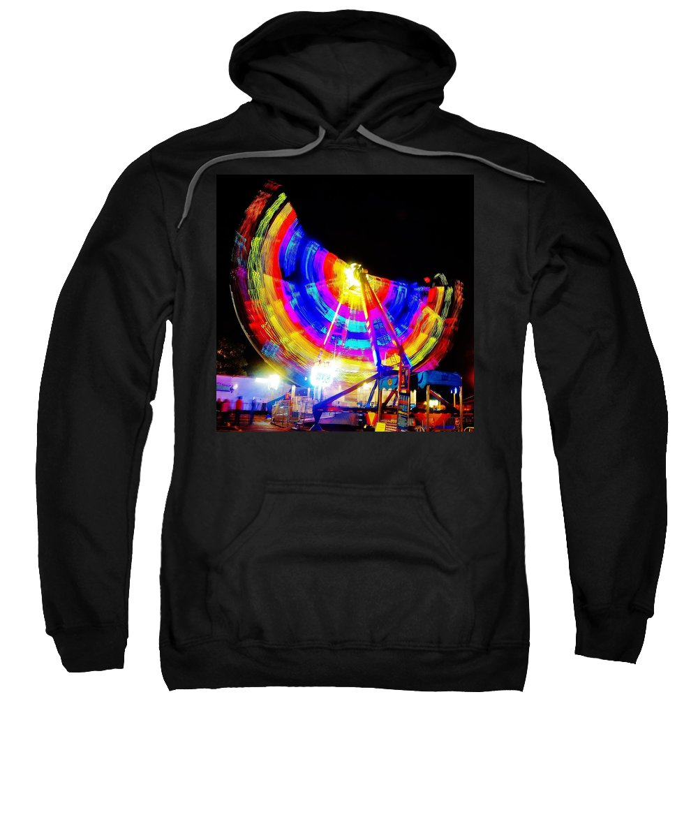 Sweatshirt featuring the photograph Freak Out ... Electric Rainbow by Daniel Thompson