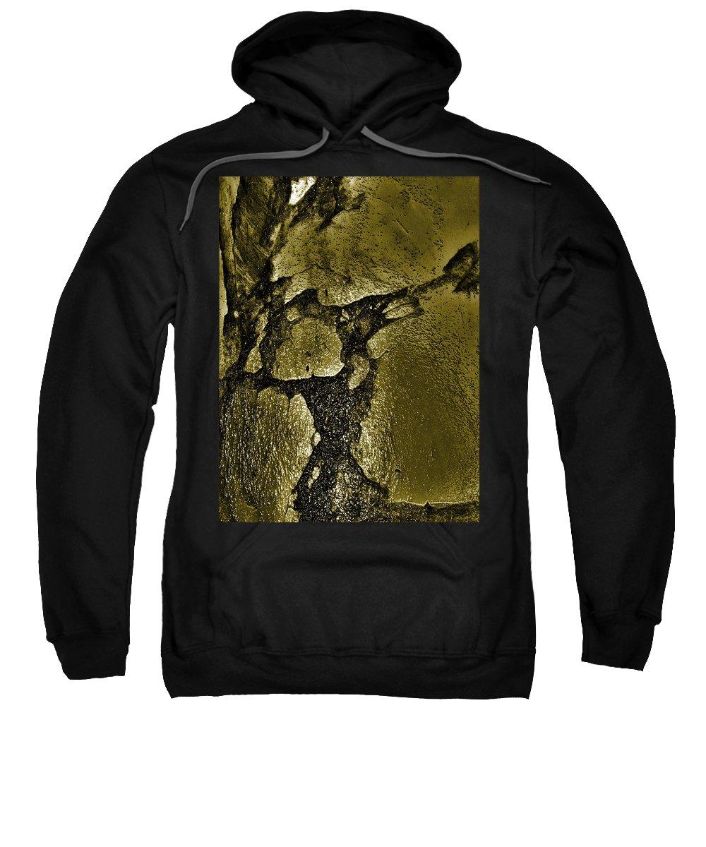 Brass Sweatshirt featuring the photograph Freeway Pole Art Sailor-pole Art Photo Series Black Gold by Sirron Kyles