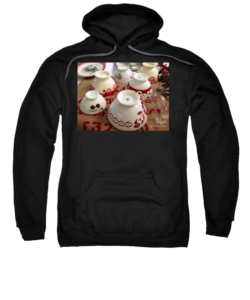 France Sweatshirt featuring the photograph French Cafe Bowls by France Art