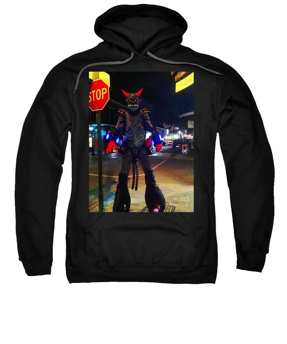 French Quarter Sweatshirt featuring the photograph French Quarter Monster by Saundra Myles