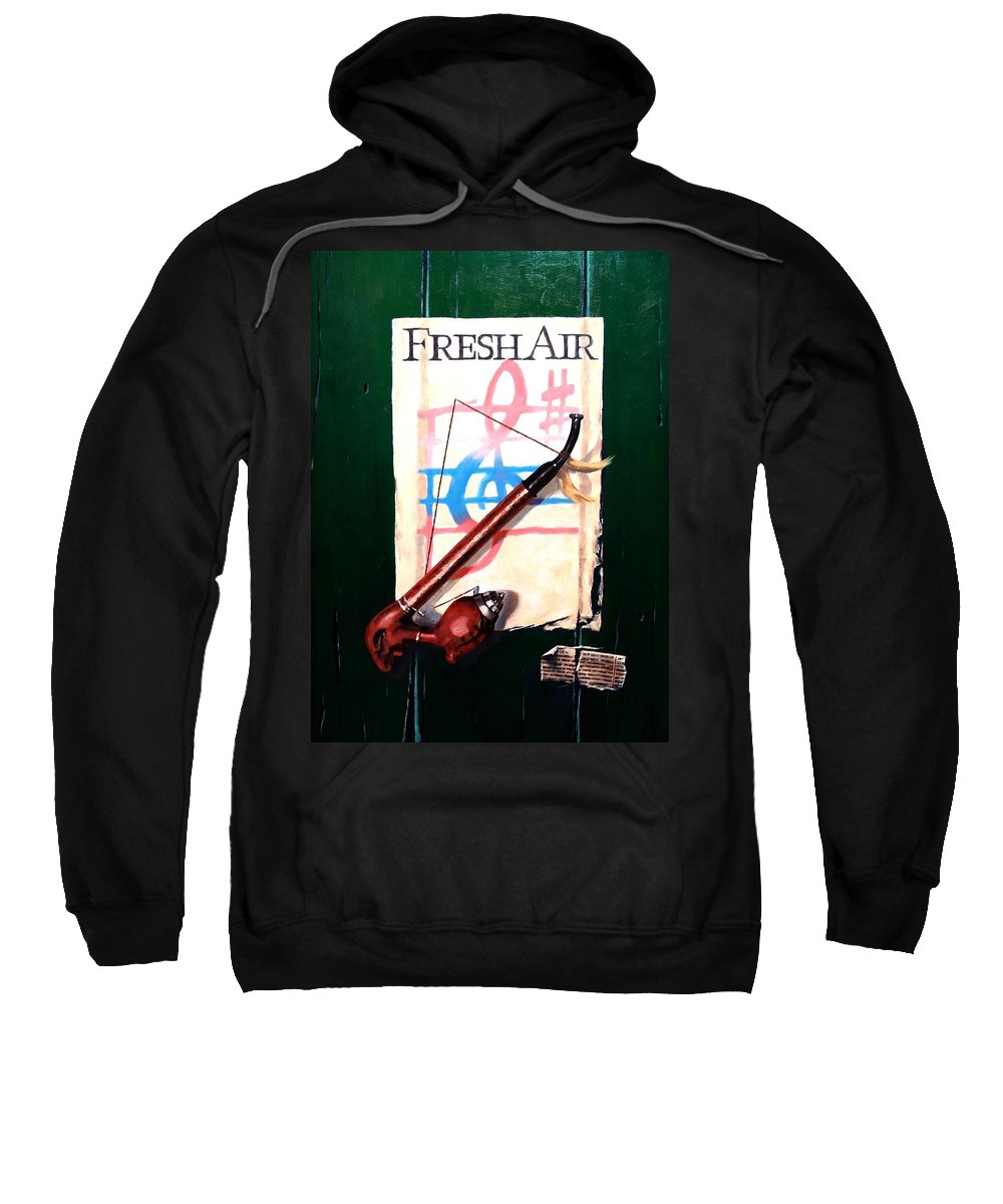 Still Life Sweatshirt featuring the painting Fresh Air by Jim Gola