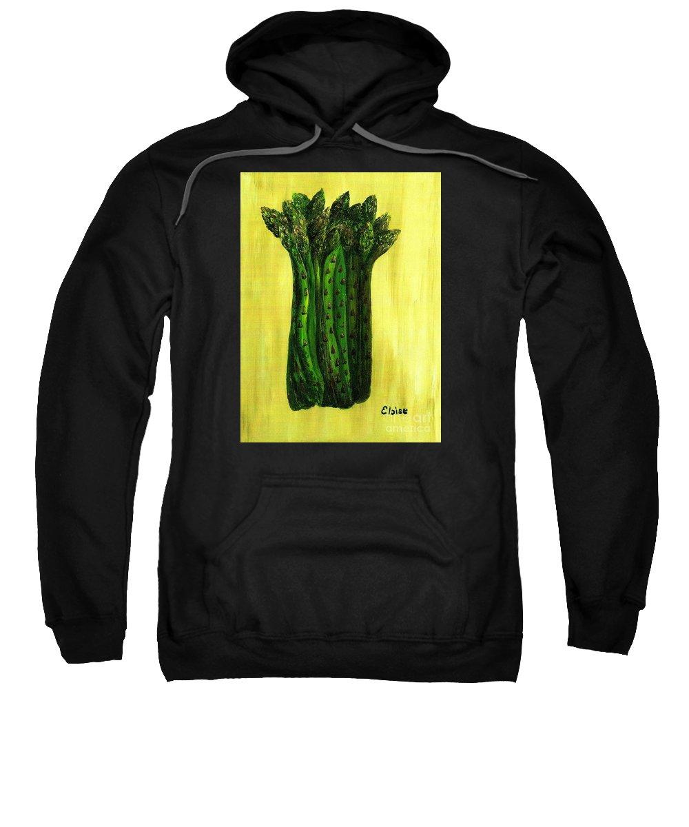 Asparagus Sweatshirt featuring the painting Fresh Asparagus by Eloise Schneider Mote
