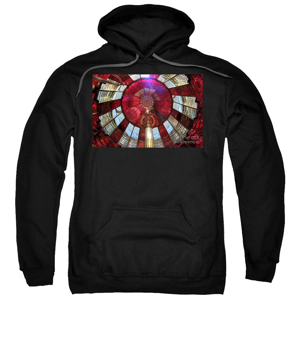First Order Fresnel Lens Sweatshirt featuring the photograph Fresnel Guiding Light by Adam Jewell