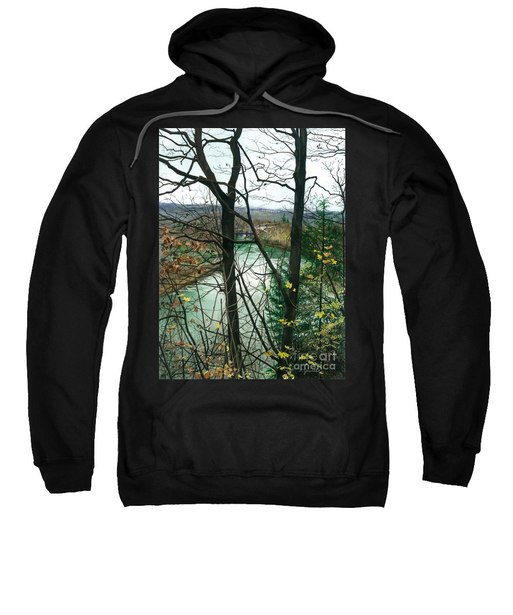 Water Color Paintings Sweatshirt featuring the painting From A Distance by Barbara Jewell