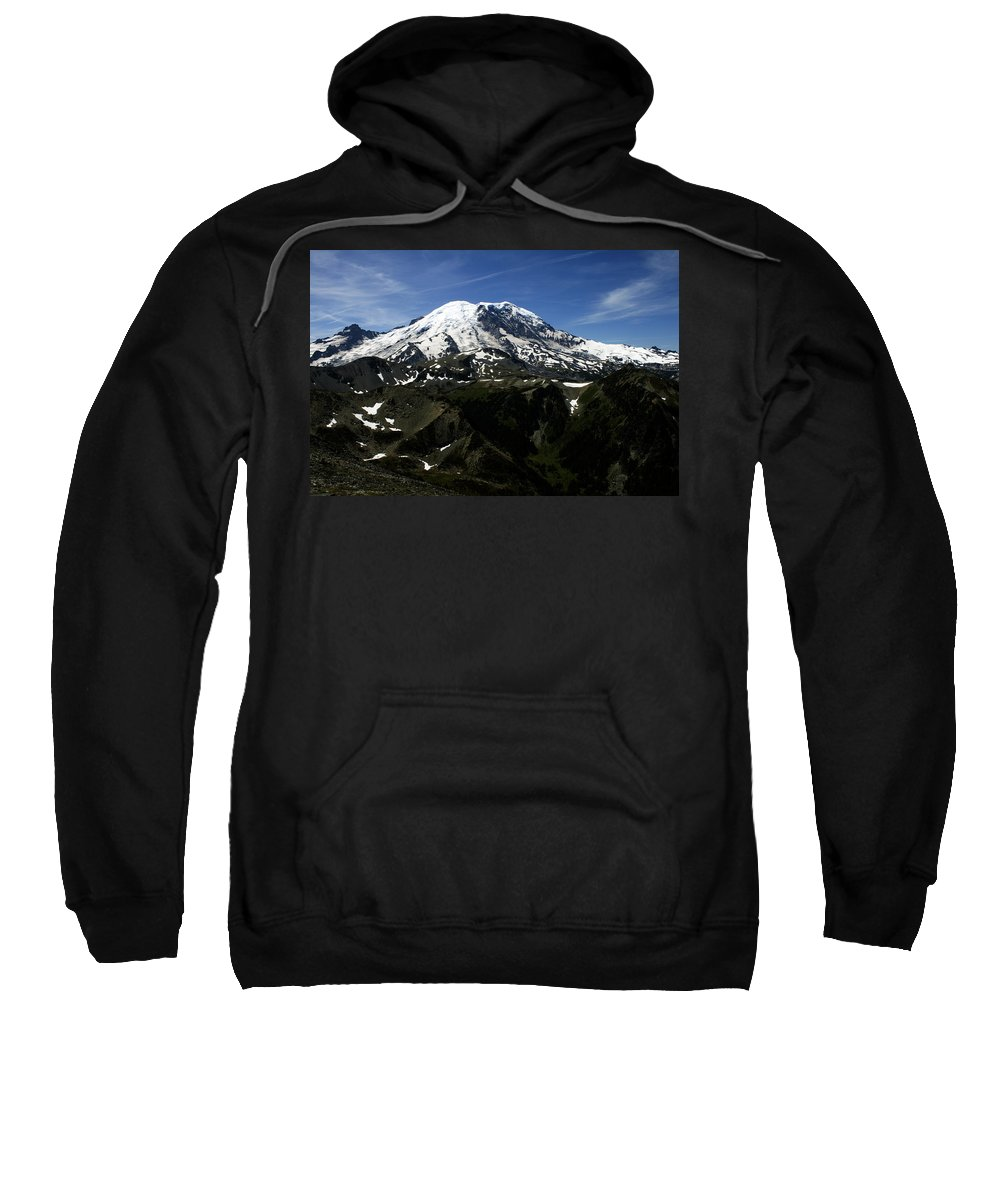 Mount Rainier Sweatshirt featuring the photograph From Mount Fremont Lookout by Edward Hawkins II