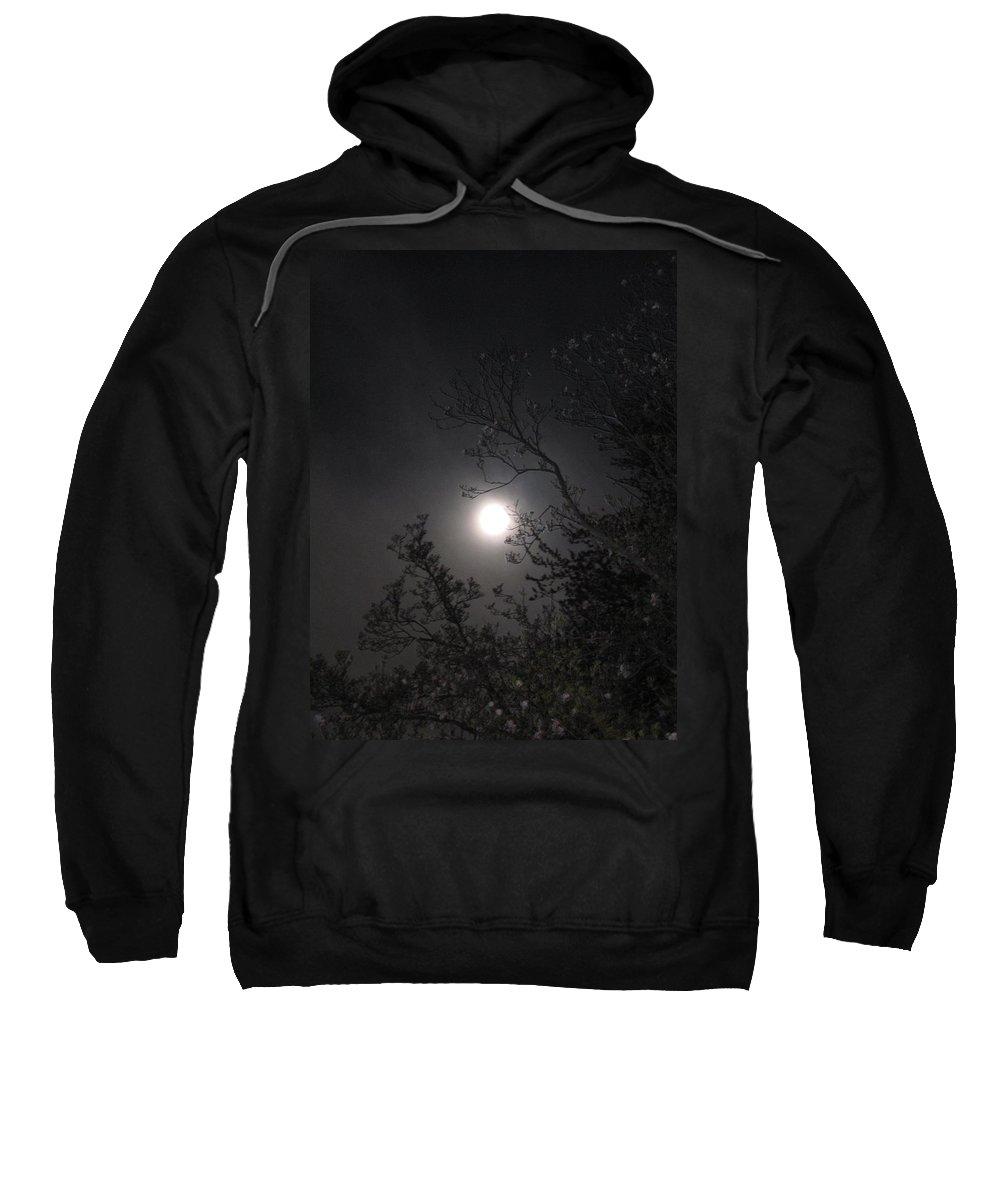 Moon Sweatshirt featuring the photograph Full Pink Moon by Glenn Scano