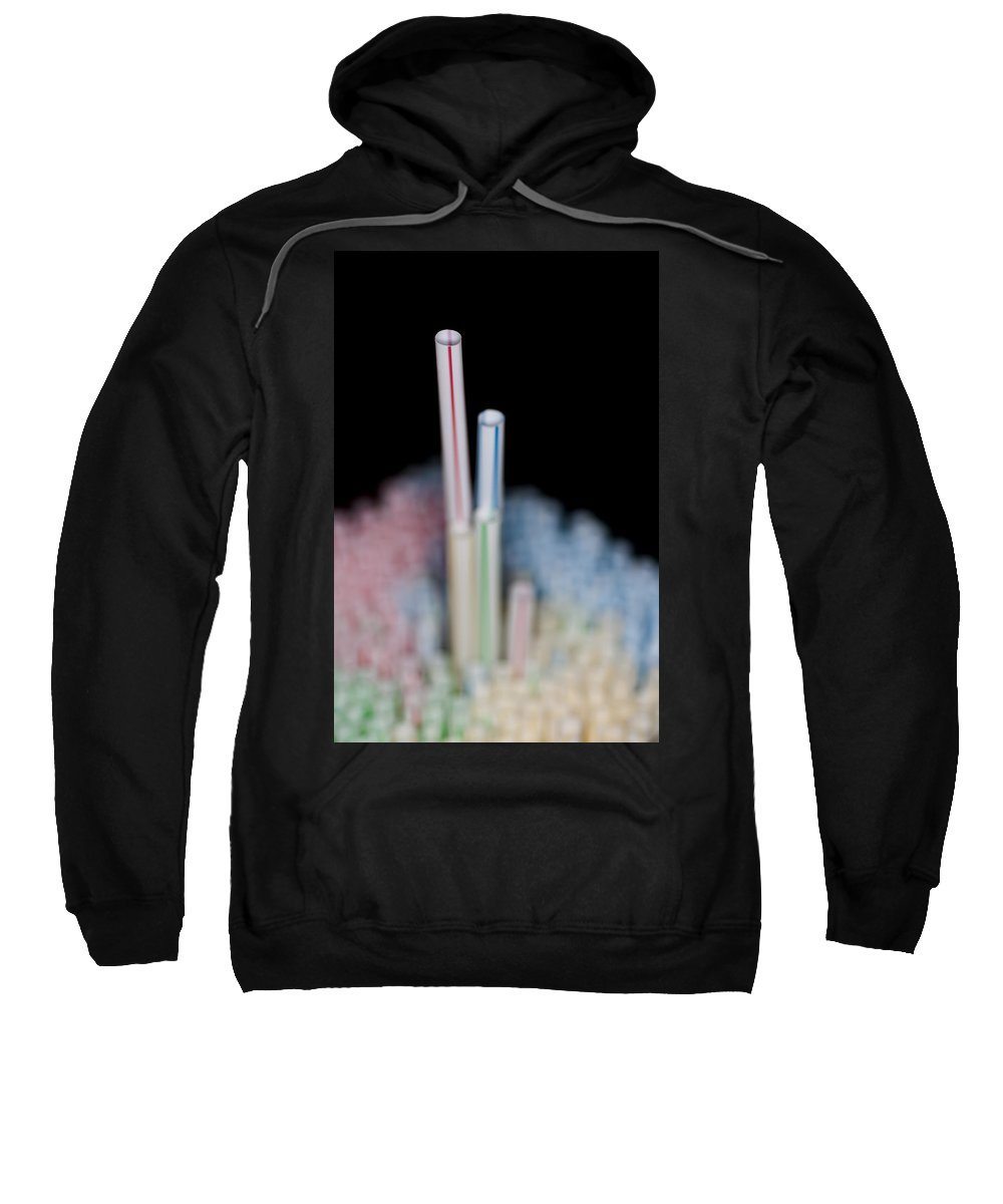 Drinking Straws Sweatshirt featuring the photograph Fun With Straws 1 by Steve Purnell
