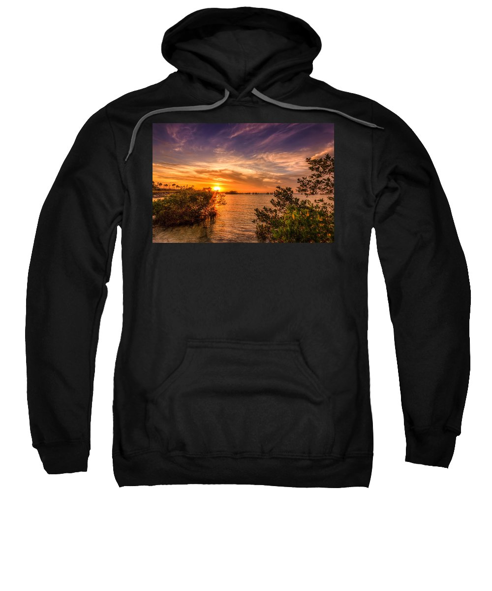 Oceanside Sweatshirt featuring the photograph Gandy Sunset by Marvin Spates