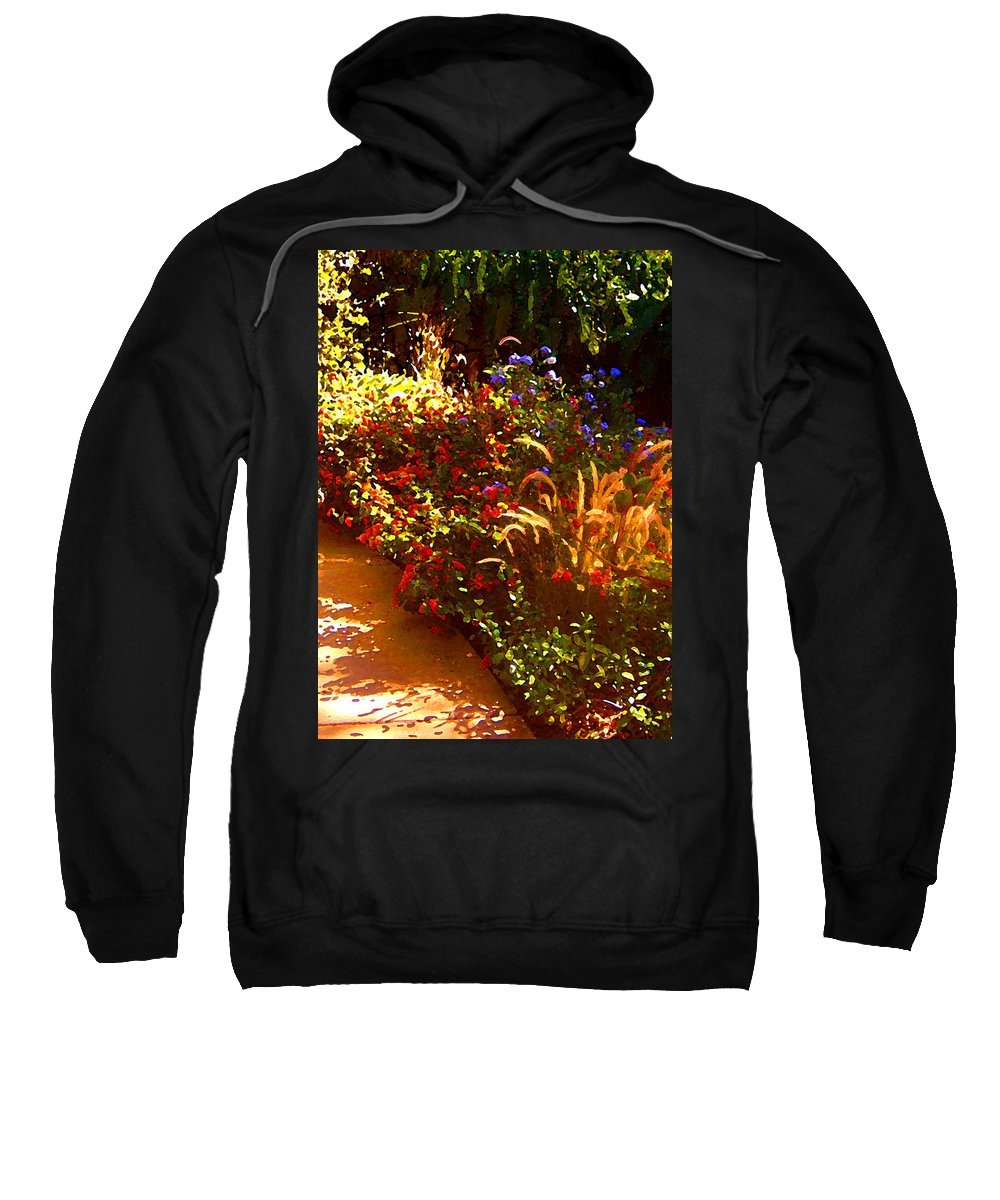 Sweatshirt featuring the painting Garden Pathway by Amy Vangsgard