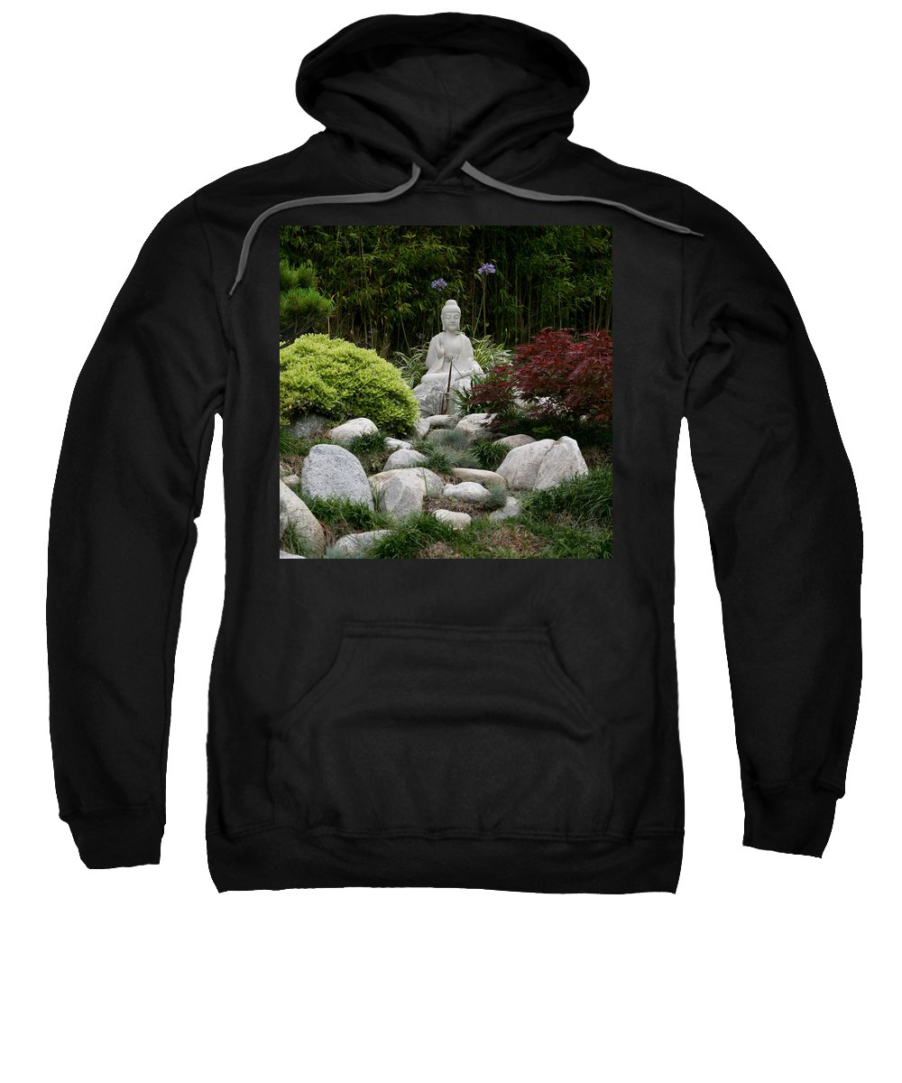 Statue Sweatshirt featuring the photograph Garden Statue by Art Block Collections