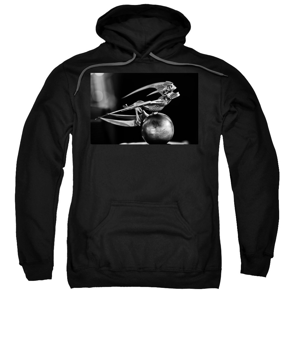 Gargoyle Sweatshirt featuring the photograph Gargoyle Hood Ornament 2 by Jill Reger