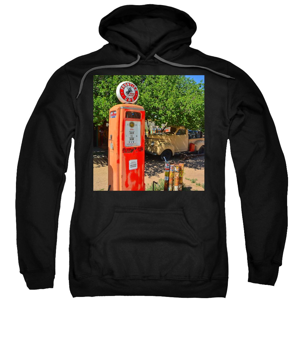 Gas Pump Sweatshirt featuring the photograph Gas Pump At Embudo Gas Museum by Jeff Black