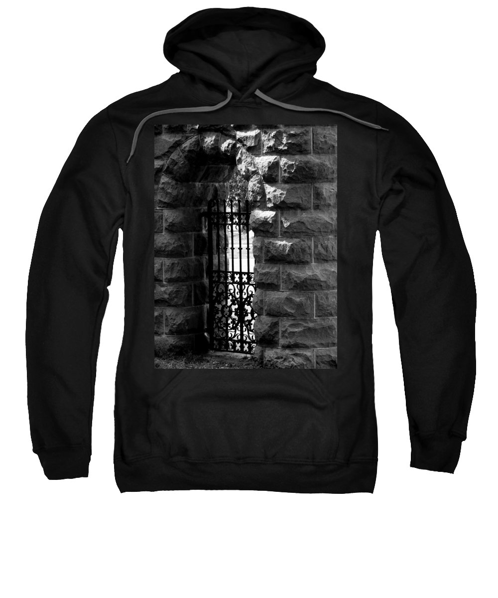 Gate Sweatshirt featuring the photograph Gate To Grave by The Artist Project