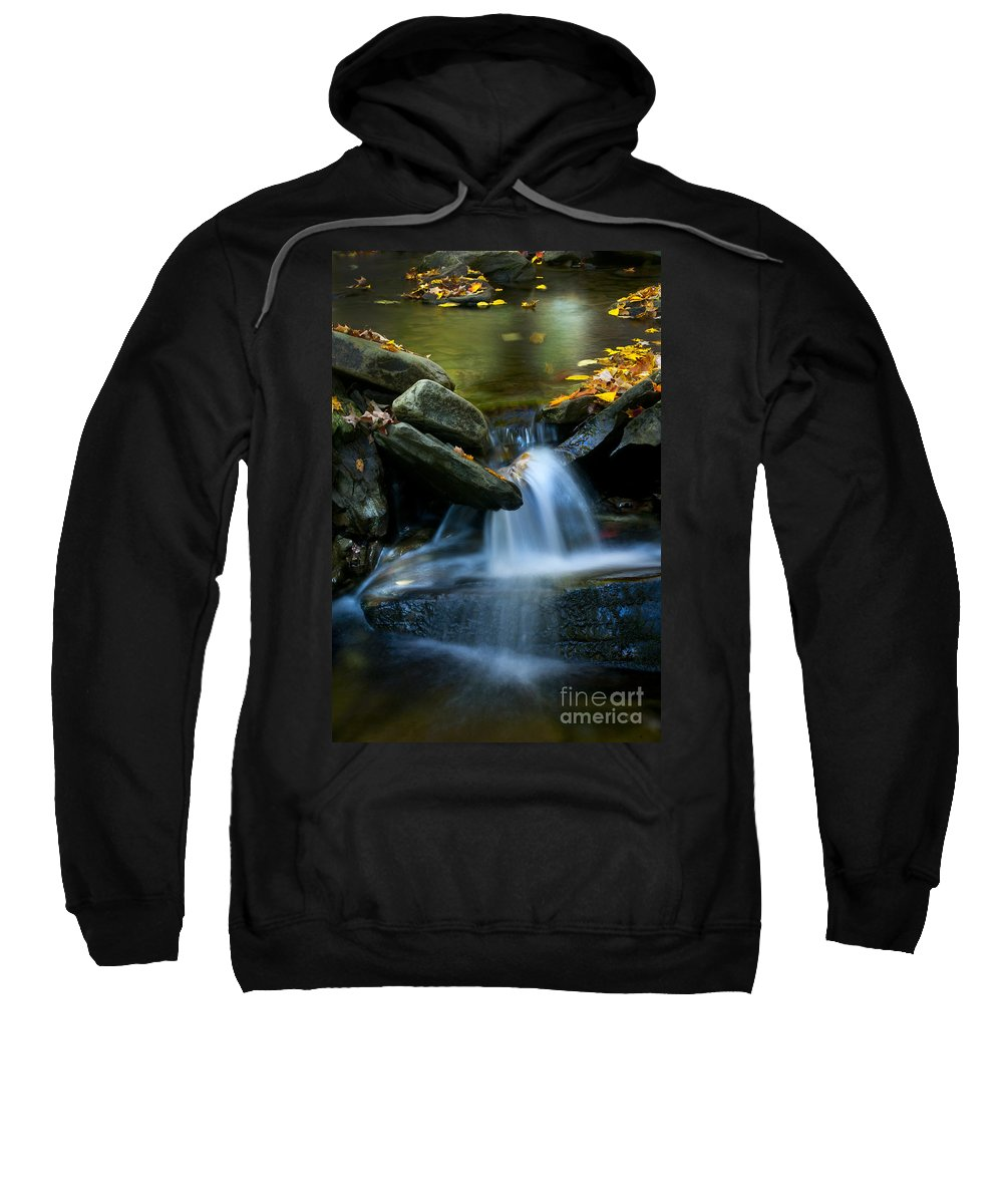 Ricketts Glen Sweatshirt featuring the photograph Gentle Little Falls by Paul W Faust - Impressions of Light