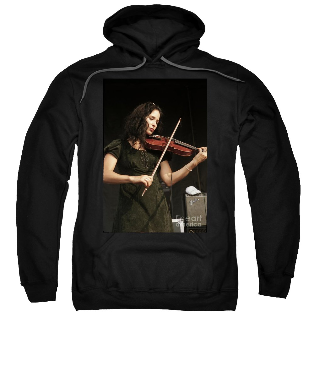 Musician Sweatshirt featuring the photograph Geraldine Fibbers by Concert Photos