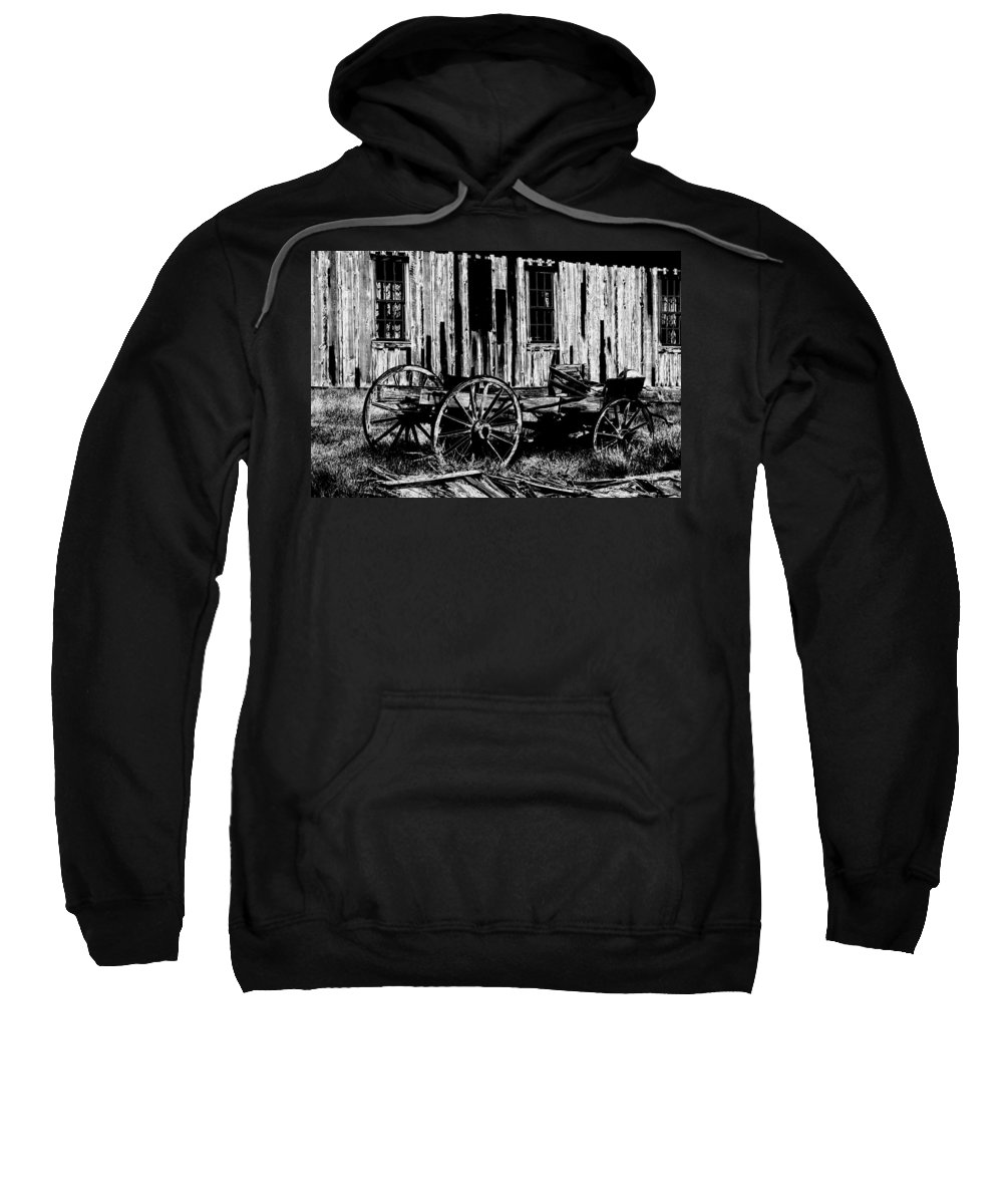 Ghost Town Sweatshirt featuring the photograph Ghost Of The Town by Paul W Faust - Impressions of Light