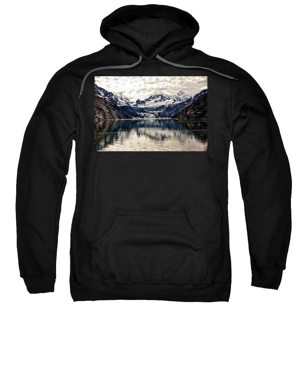 Glacier Bay Sweatshirt featuring the photograph Glacier Bay Landscape - Alaska by Jon Berghoff