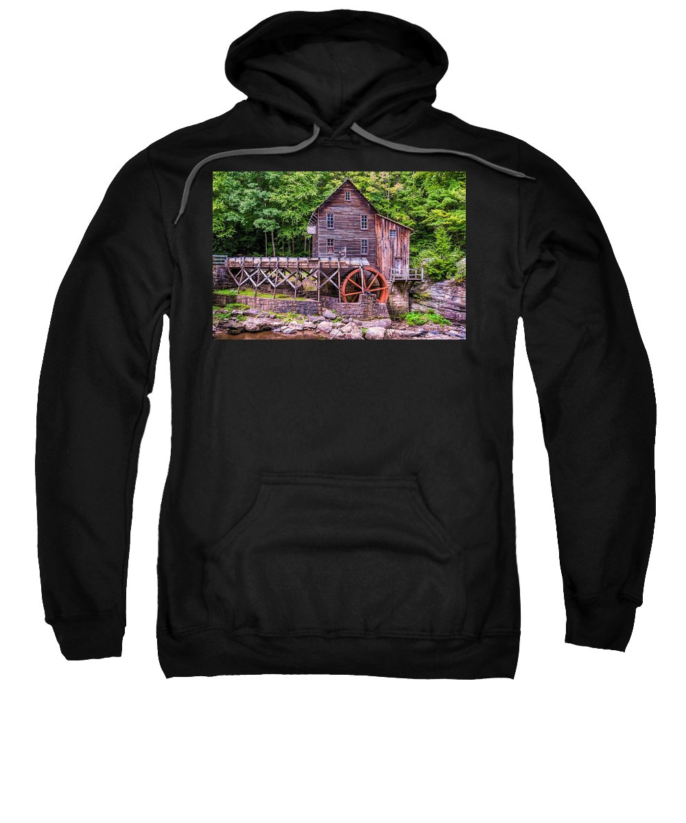 Mill Sweatshirt featuring the photograph Glade Creek Grist Mill by Steve Harrington