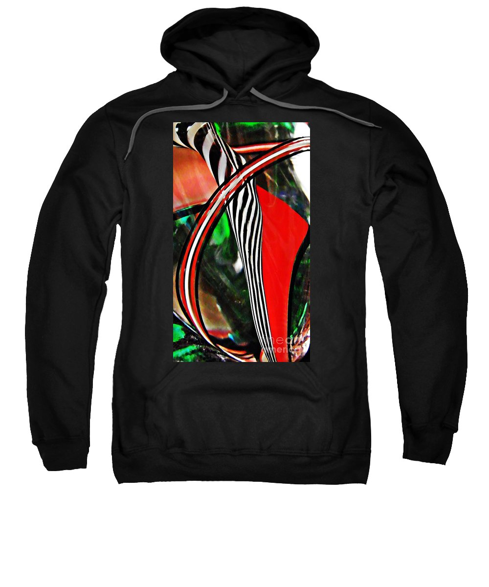 Abstract Sweatshirt featuring the photograph Glass Abstract 493 by Sarah Loft