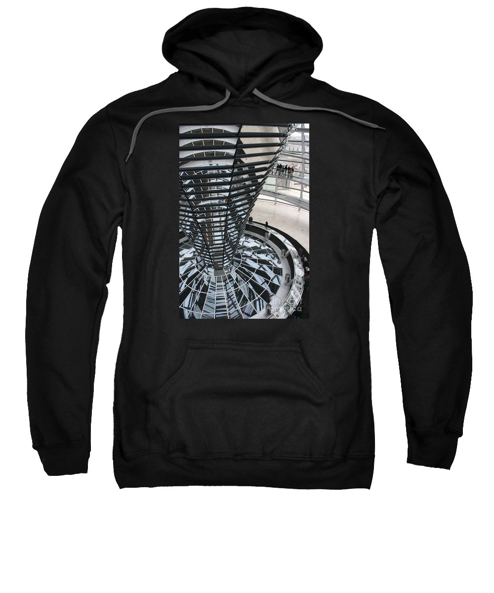 Glass Cupola Sweatshirt featuring the photograph Glass Cupola - Berlin by Christiane Schulze Art And Photography