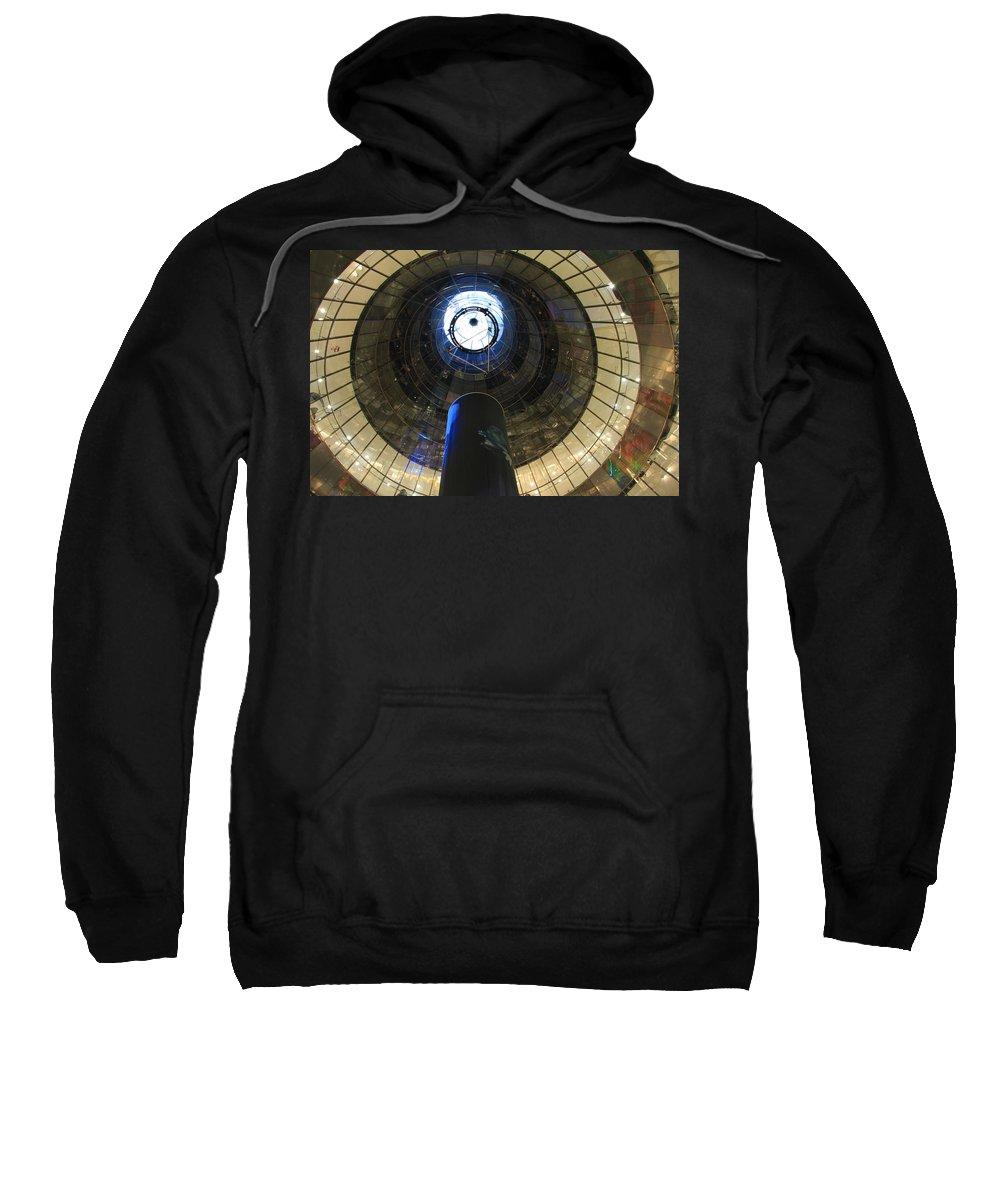 Glass Spiral Sweatshirt featuring the photograph Glass Spiral by Christiane Schulze Art And Photography