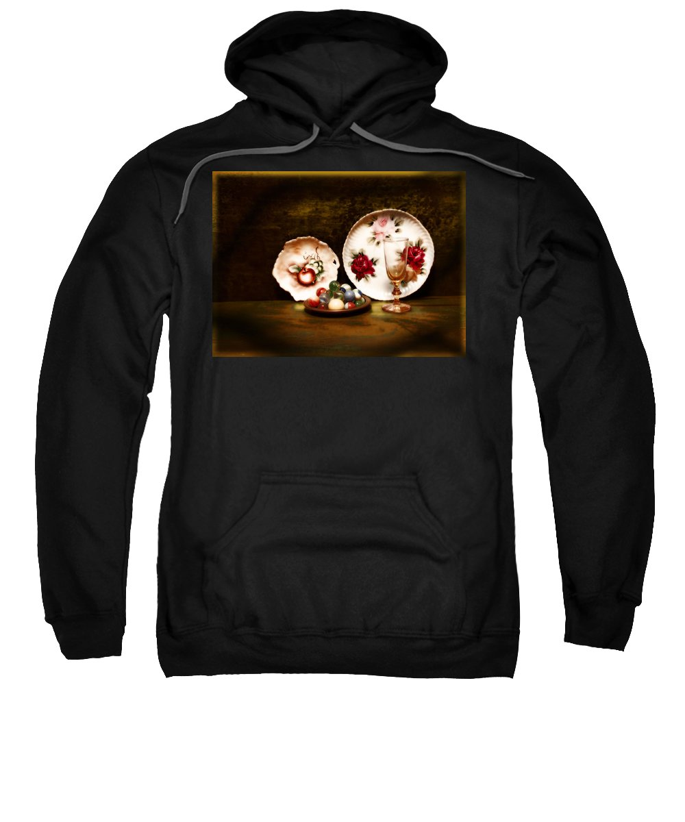 Glass Sweatshirt featuring the photograph Glassware by John Anderson