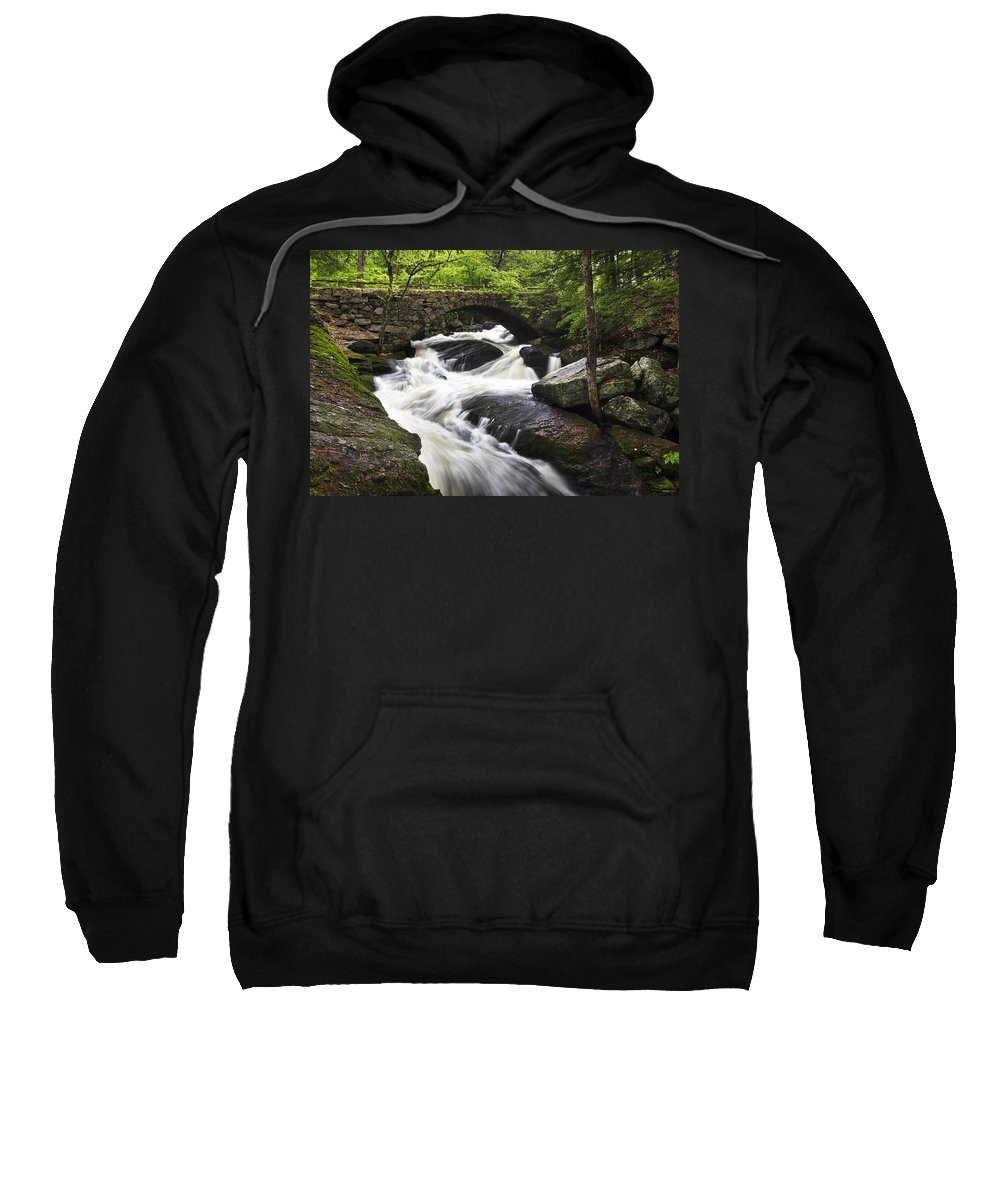 Gleason Falls Sweatshirt featuring the photograph Gleason Falls by Eric Gendron