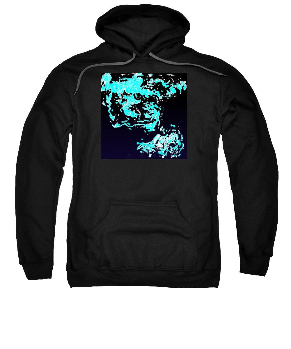 Sweatshirt featuring the digital art Glub by Mark Didine