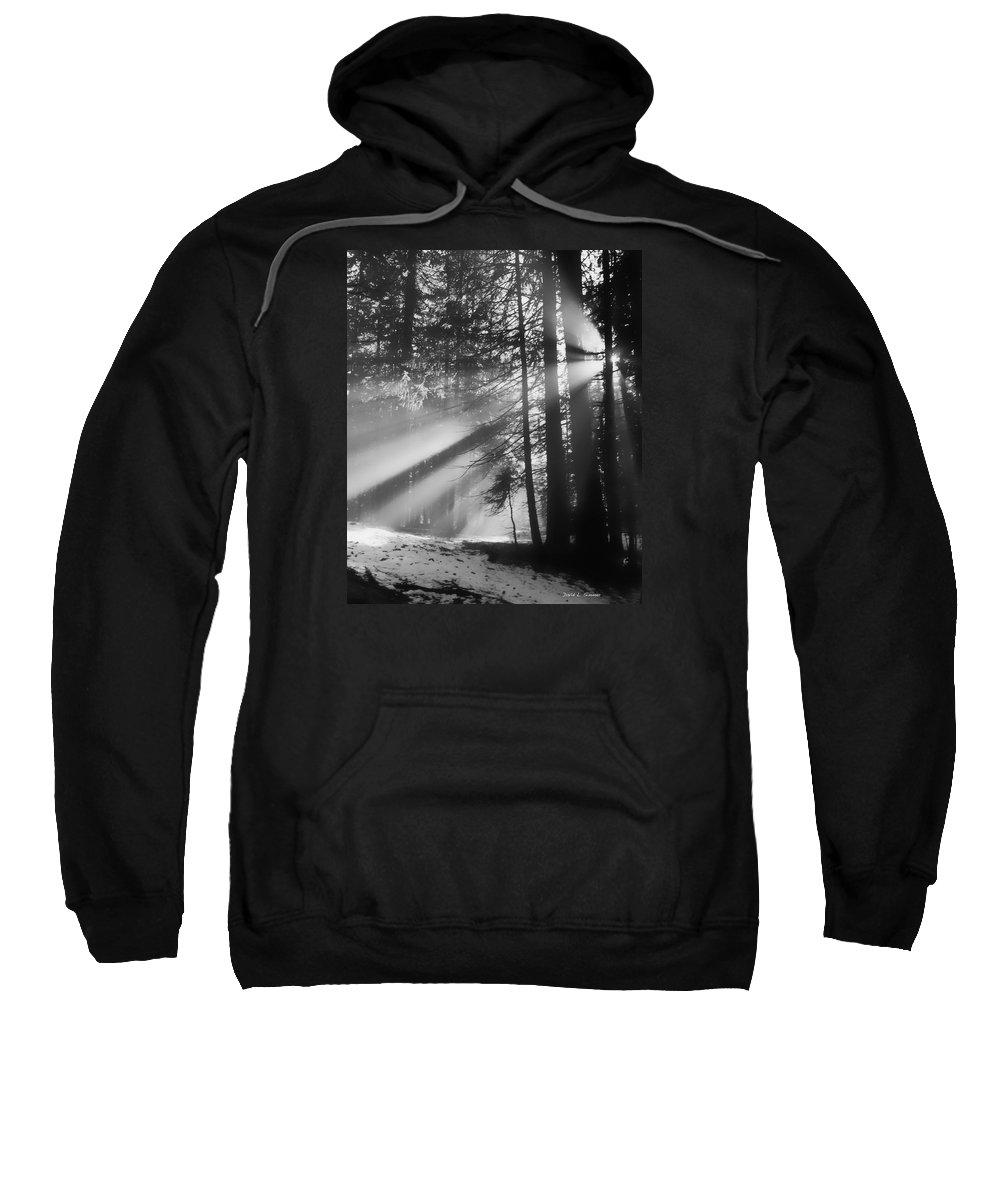 Landscape Sweatshirt featuring the photograph God's Light by David Simmer