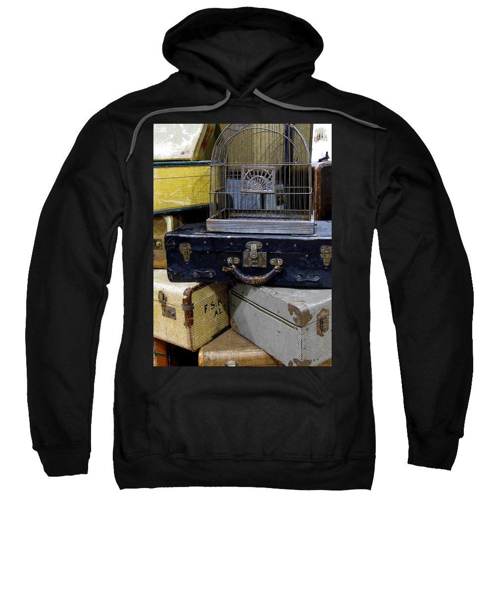 Suitcase Sweatshirt featuring the photograph Going Somewhere by Rebecca Renfro