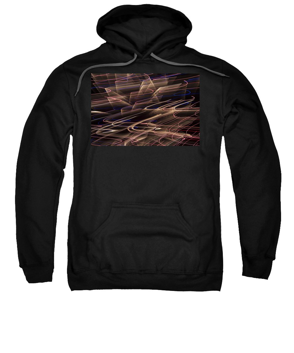 Gold Sweatshirt featuring the photograph Gold Abstract Lights by Garry Gay