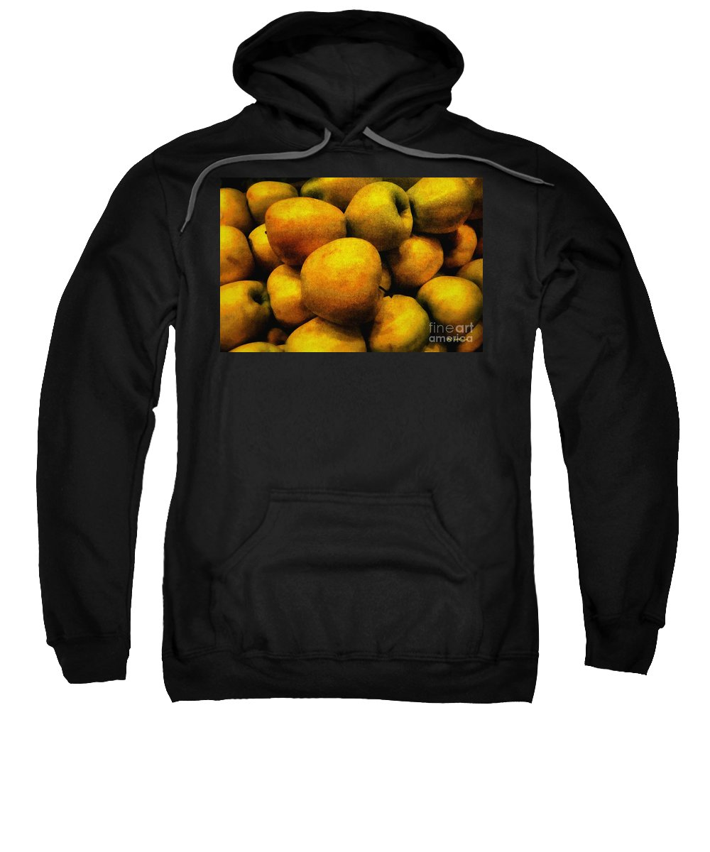 Apples Sweatshirt featuring the painting Golden Renaissance Apples by RC DeWinter