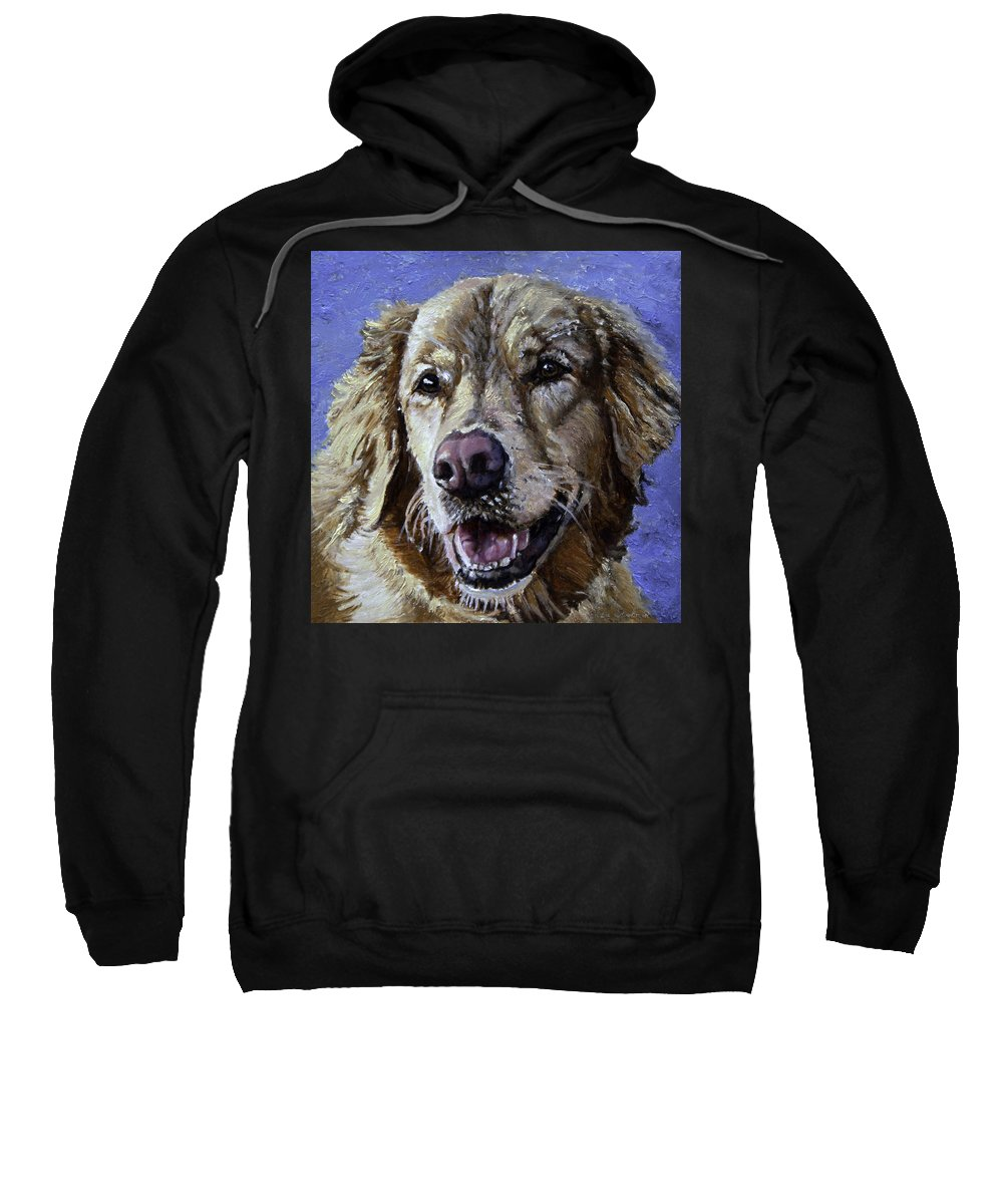 Dogs Sweatshirt featuring the painting Golden Retriever - Molly by Portraits By NC