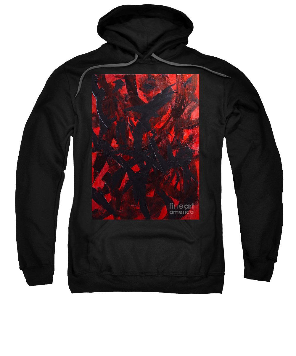 Abstract Sweatshirt featuring the painting Good Bye by Dean Triolo