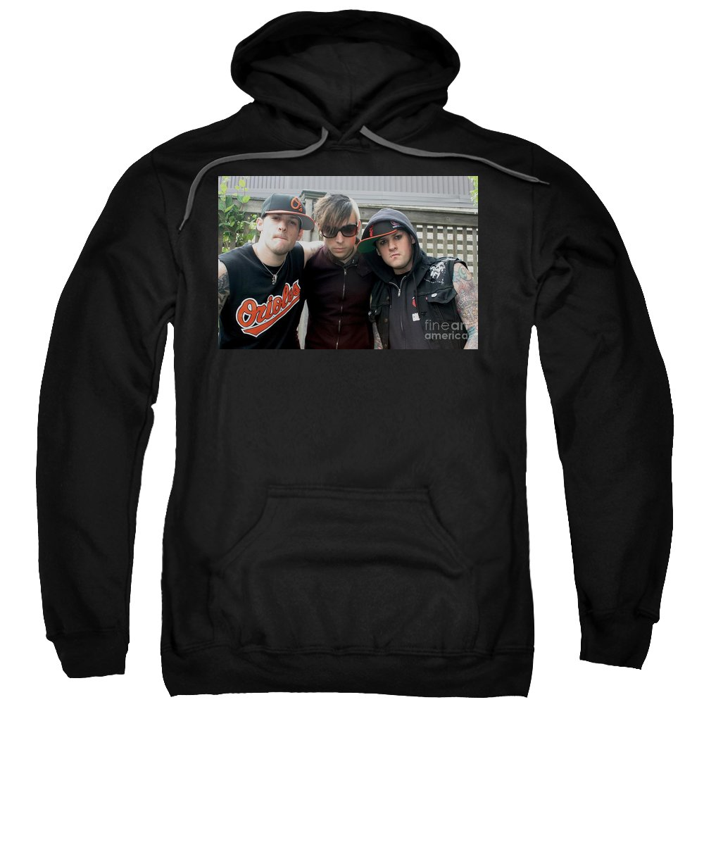 Caps Sweatshirt featuring the photograph Good Charlotte by Concert Photos