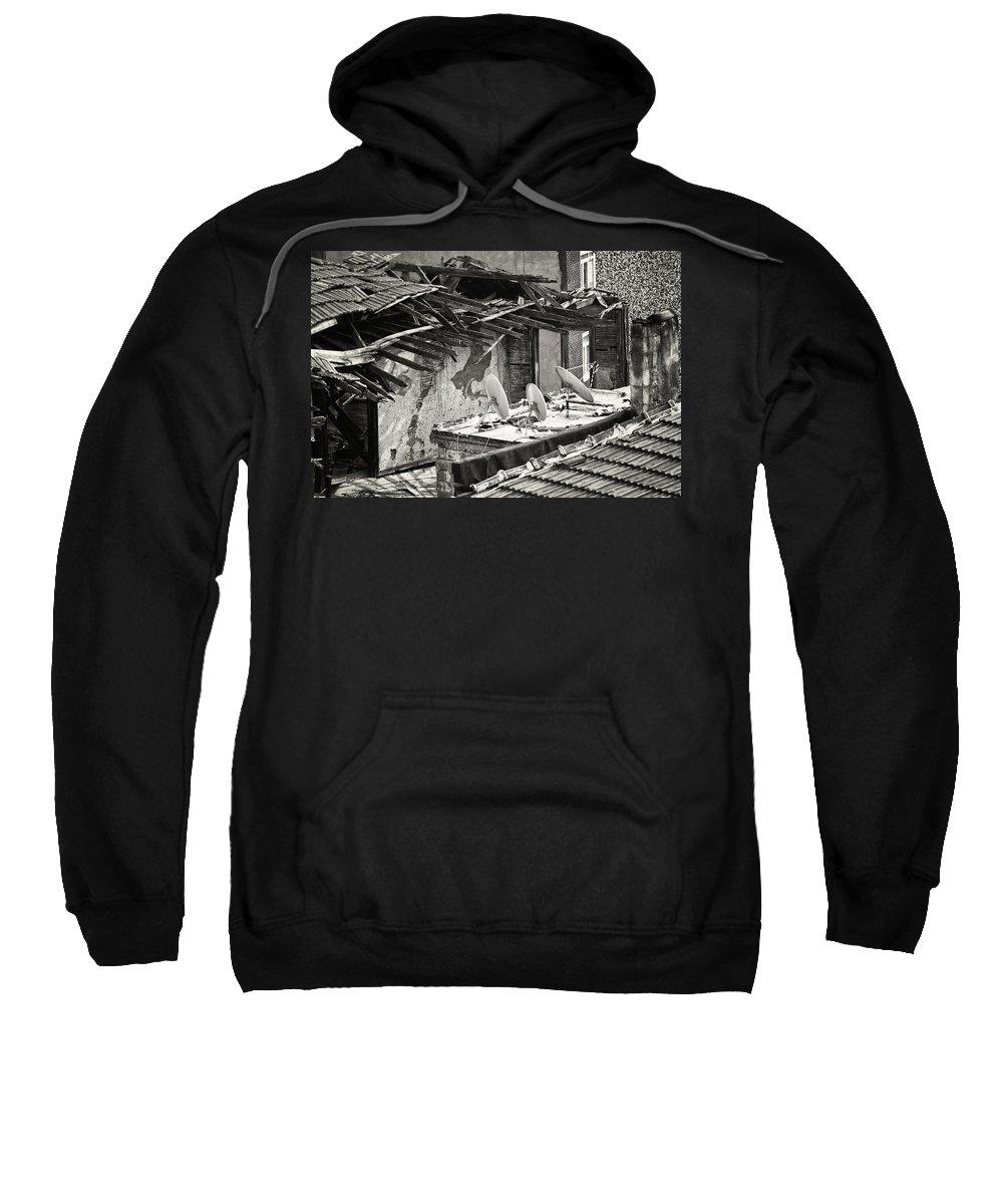 Alleyway; Narrow Street Sweatshirt featuring the photograph Gotta Have It by Joan Carroll
