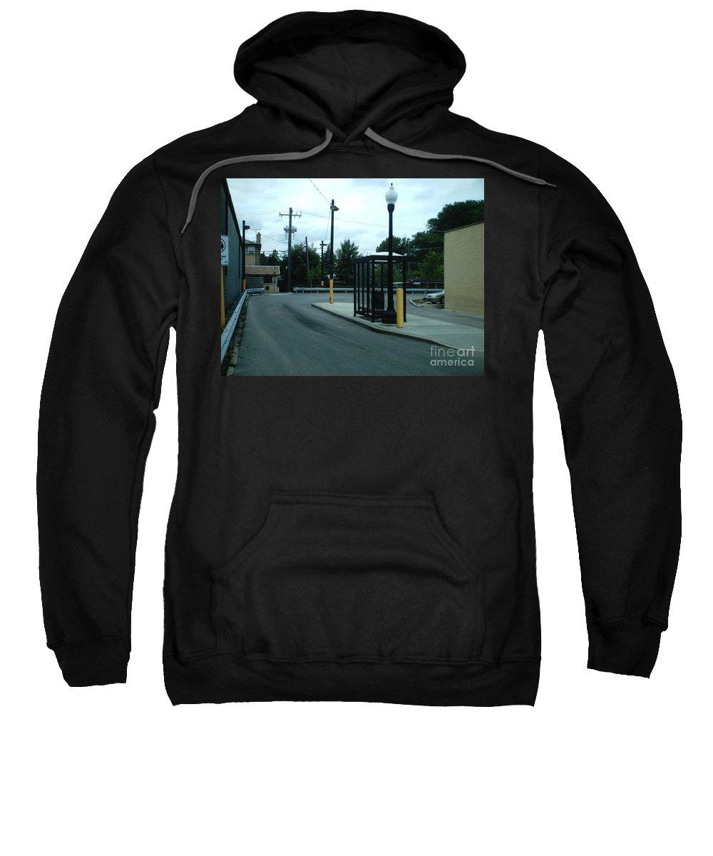 Cta Sweatshirt featuring the photograph Grand/nordica Cta Bus Terminal by Alfie Martin