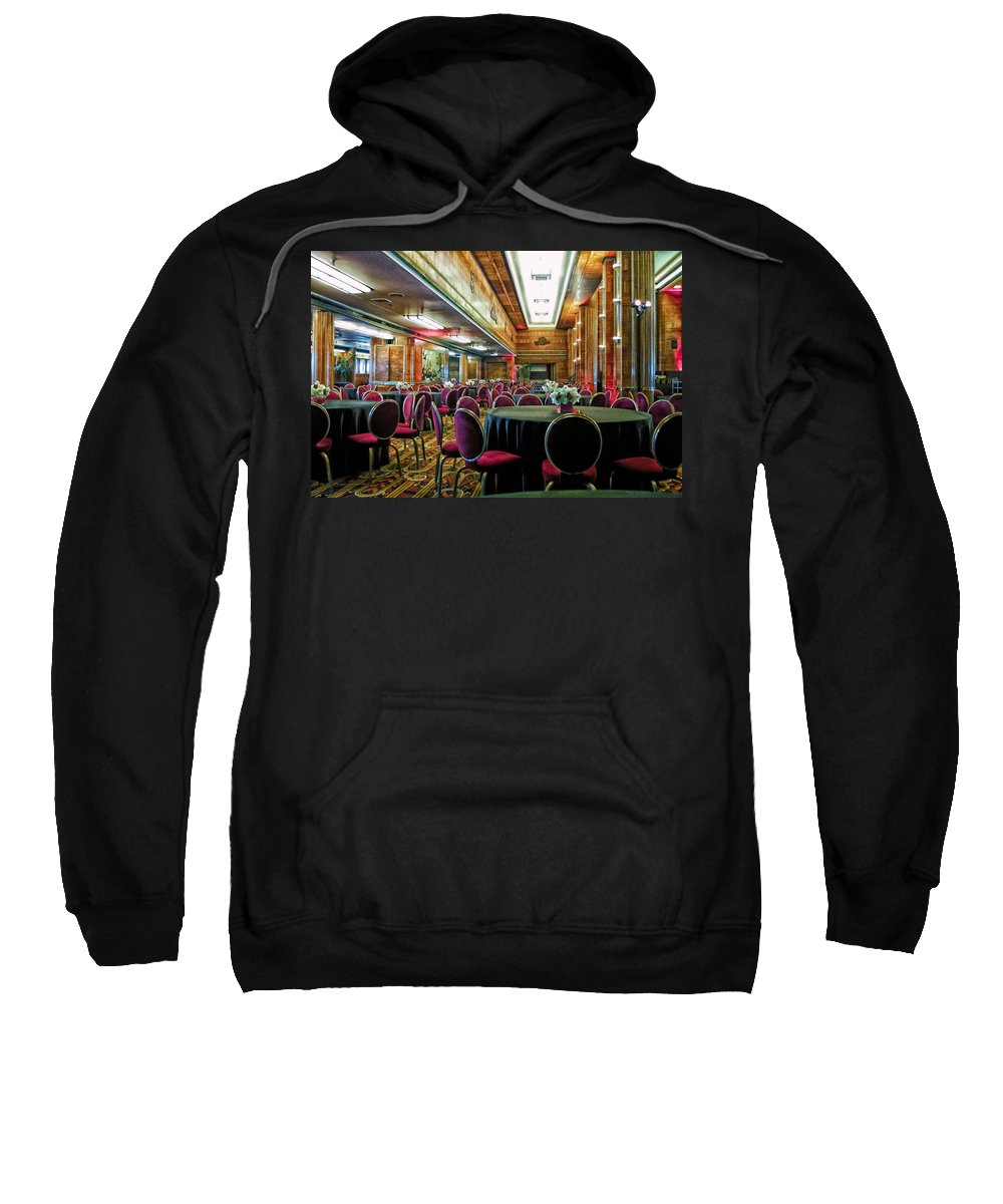 Queen Mary Sweatshirt featuring the photograph Grand Salon 05 Queen Mary Ocean Liner Extreme by Thomas Woolworth