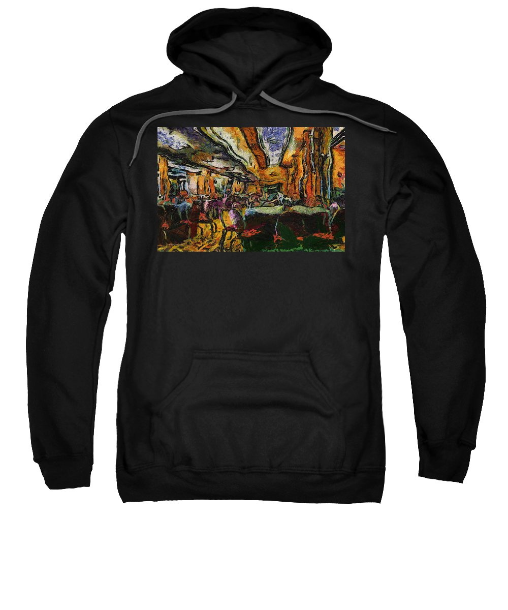 Queen Mary Sweatshirt featuring the photograph Grand Salon 05 Queen Mary Ocean Liner Photo Art 04 by Thomas Woolworth